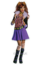 FANCY DRESS ~ GIRLS MONSTER HIGH CLAWDEEN WOLF COSTUME LARGE AGE 8-10