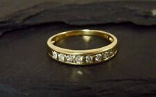9ct Gold Channel Set Half Eternity Ring
