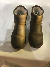 Ugg Australia Ladies Brown Leather Ankle Boots Uk 4/4.5 Ref My02