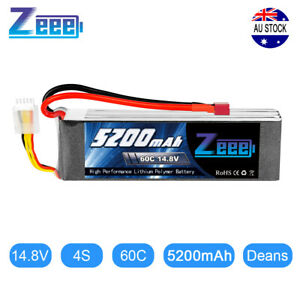 Zeee 4S 5200mAh 60C 14.8V Deans LiPo Battery for RC Helicopter Car Truck Boat