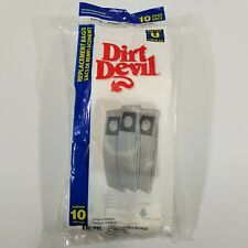 10 Vacuum Bags GENUINE DIRT DEVIL ROYAL Type U for Upright. Part 3920048001