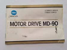 Minolta Motor Drive MD-90 Instruction Manual Guide in English and French