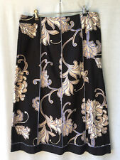 Rockmans Size 12 Midi Skirt NEW Cotton Work Smart Casual Evening Dinner FREEPOST