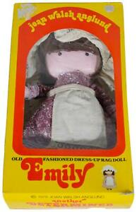 VTG 70s EMILY Joan Walsh Anglund Dress-Up RAG DOLL 1978 MINT In Open Box CIB !
