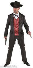 Cowboy Wilder Westen Saloon Lord Kostüm Anzug Herren Kartenspieler Cowboykostüm