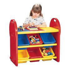 Multi Coloured Childrens 6 Bin Storage Organiser - Childrens Furniture