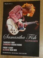 Samantha Fish - Edinburgh/Glasgow may 2019 live music show concert gig poster