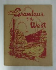 1942 Southern Pacific Railroad 16 color Scenic Views along Grandeur of The West
