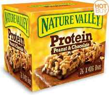 Nature Valley Protein Peanut & Chocolate Gluten Free Cereal 40g Pack of 26 Bars