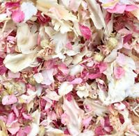 Biodegradable WEDDING CONFETTI IVORY Pink Dried FLUTTER FALL Real Throwing Petal
