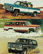 1978 Chevy 4x4 4WD Brochure / Catalog : PickUp Truck,SUBURBAN,BLAZER,K10,K20,K30