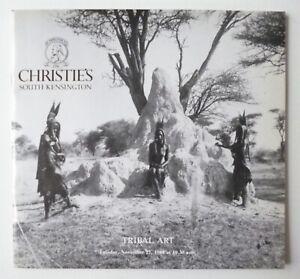 Tribal Art - Afrique Océanie - Catalogue de Vente Christie's - 22 Novembre 1988