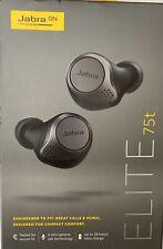 Jabra - Elite 75t True Wireless In-Ear Headphones Titanium Black 100-99090000-02