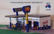 N Scale Golden Fleece Garage Petrol Station Model Railway Building Kit - NGFS1