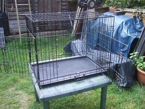 medium sized dog cage.