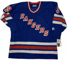 Vintage Starter NEW YORK RANGERS Wayne Gretzky NHL Hockey Jersey Size Large