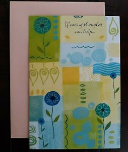GET WELL CARD - American Greetings Card - If Caring Thoughts Can Help...