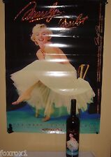 Marilyn Monroe 1994 Merlot 10th Vintage Red Wine and  22 x 30 Mint Poster Set