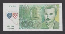 BOSNIA  100 Una 1991 UNC  PNL  CR 008661  proposal banknote EXTREMELY RARE