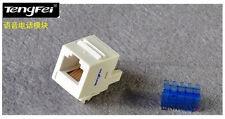 (6pcs/pack) RJ11/RJ12 6P4C Telephone Keystone Jack with dust cover White color