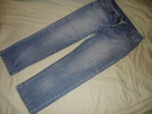 Lucky Brand Jeans Button Fly 38 x 30 Reg Inseam Blue Light Wash