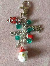 HANDMADE Christmas TREE REINDEER SANTA Bell STOCKING XMAS GIFT  HANDBAG CHARM