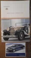MAYBACH Zeppelin DS8 2002 UK MKT FACTORY brochure prospekt + cartolina-Tedesco
