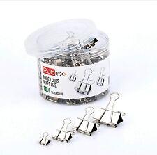 Rubex Binder Clips Silver Small Medium Large Binder Clips Jumbo Binder Clips 120