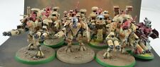 Tau Battlesuit squad x13 with ForgeWorld, Broadside, Farsight painted