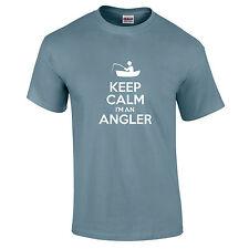 Keep Calm I'M An Pêcheur Pêche Cadeau Drôle T-Shirt Hobby Fabriqué En UK S-5XL