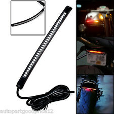 Universal Motorcycle 32 LED Integrated Tail Brake Stop Light Turn Signal Strip