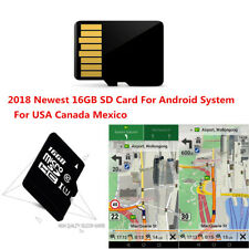 2018 Newest 16GB SD Card North America Map For Android System Car GPS DVD Radio