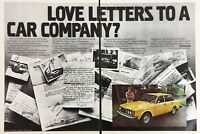 1978 Volvo 240 Yellow Car Love Letters To A Car Company Vintage Photo Print Ad