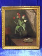 Norddeutsche Künstler: Marie Meyer-Glaeseker: Meisterhaftes Tulpenstillleben