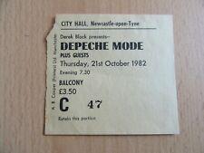 DEPECHE MODE 21.10.1982 TICKET NEWCASTLE-UPON-TYNE , CITY HALL