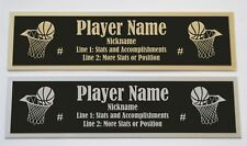 Custom Engraved Basketball Nameplate for signed personal item or display case