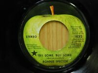 Ronnie Spector 45 Try Some Buy Some bw Tandoori Chicken on Apple