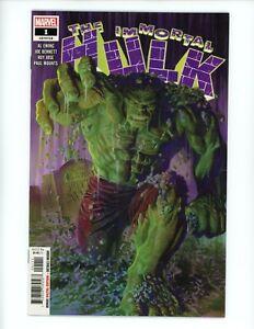 Immortal Hulk #1, 2018 NM 🔥 Legacy #718 Immortal Hulk! by Al Ewing Alex Ross!