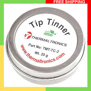 Lead Free Tip Tinner Soldering Iron Tips Container Cleaner Solder Residue ReTins