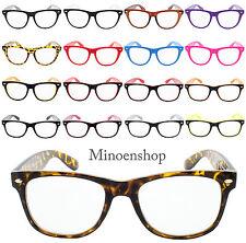 Classic Wayfare Geek Nerd Gafas De Lente Transparente Moda Unisex Montura De Color De Colección