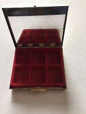 vintage earring Case Holds 6 Pairs Of Earrings