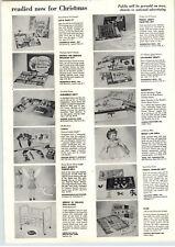 1955 PAPER AD Walt Disney Tinker Bell Doll Ideal Magic Lips Huffy Radio Bike