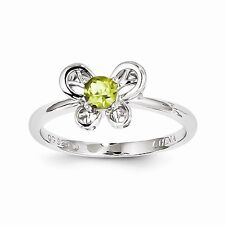 Sterling Silver Peridot Ring Size 8 QBR24AUG-8 W15027