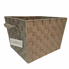 New listing Koala Baby Basket Medium Nylon Woven Tan & Handled From Toy's R Us Brand New