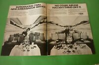 1971 Original Advertising' American Twa Airlines Company Aerial First Class