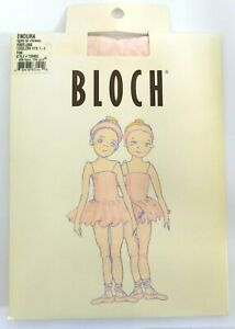 Bloch Girls Endura Pink Footless Tights Toddlers Size 1-3 T0940G