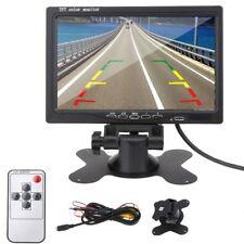 "Professional 7"" TFT LCD Car Monitor DVD DVR for Car Rear View Backup Camera US"