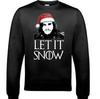Game Of Thrones Jumper Christmas Let It Snow Mens Funny Sweatshirt Ugly Xmas GOT