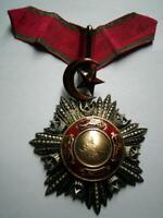 Victorian Crimea War 19thC Ottoman Turkish Honour Medjidie neck medal 3rd Class