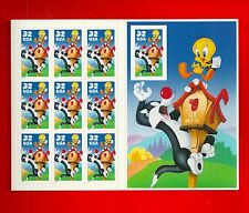 SYLVESTER & TWEETY Looney Tunes Pane of Stamps Scott's 3205 (No Die Cut) # 3